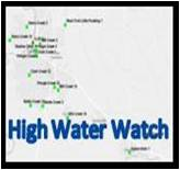 Map view of current stream gage levels